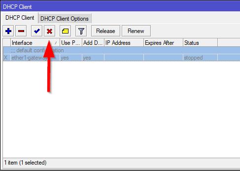 Desabilitando o DHCP Client