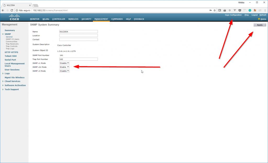 Configurando SNMP