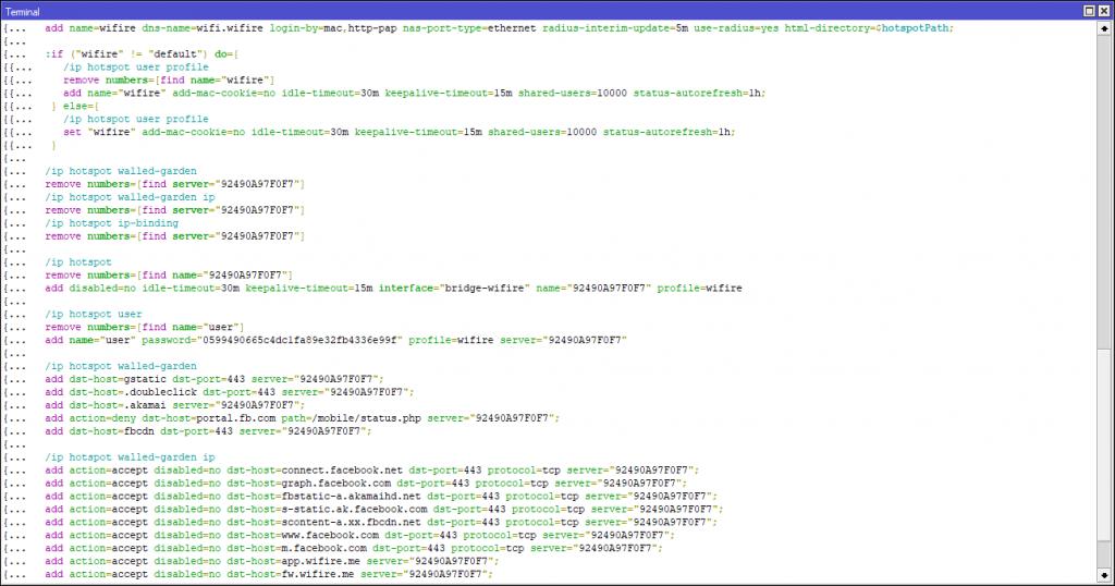 Script WiFire no New Terminal